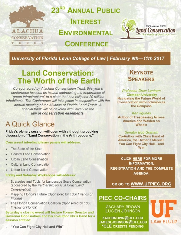 Public Interest Environmental Conference  Land Conservation The